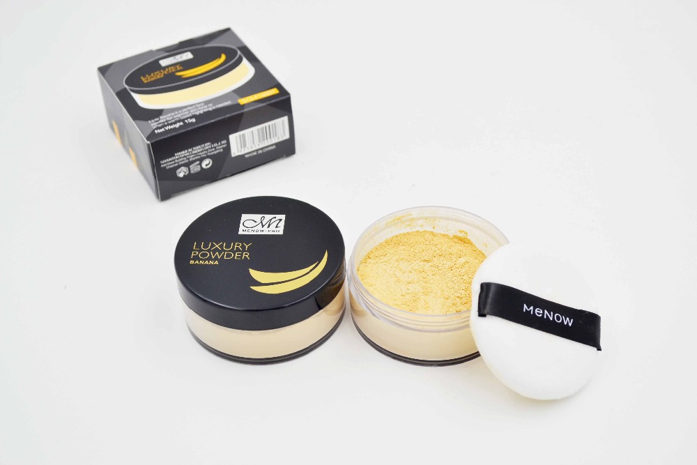 Menow F16007 Luxury Banana Powder Face Oil-Control make up Loose Powder