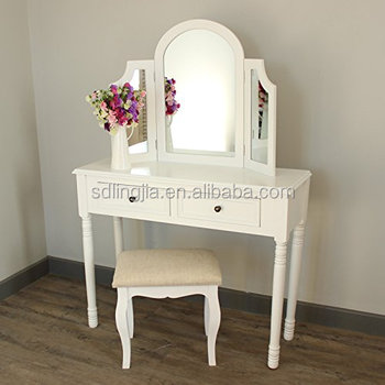Vanity Table Top Dressing Mirror Drawer Bedroom Dresser Home Center