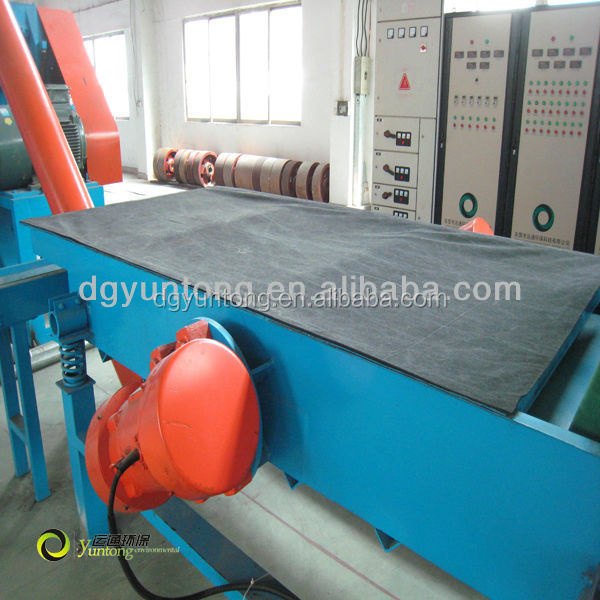99% selection ratio separating fiber machine for waste tire recycle