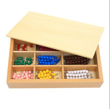 Factory supply <span class=keywords><strong>Kinderen</strong></span> educatief speelgoed montessori math product kralen materiaal