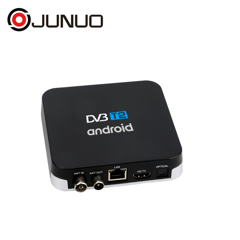 JUNUO Set Top Box Hersteller Android Digital TV Receiver Kostenloser zu Air MPEG4 HD DVB T2 ott tv box für LED TV