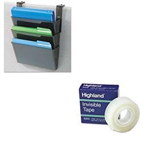KITDEF73504MMM6200341296 - Value Kit - Deflect-o DocuPocket Three-Pocket Partition Set (DEF73504) and Highland Invisible Permanent Mending Tape (MMM6200341296)