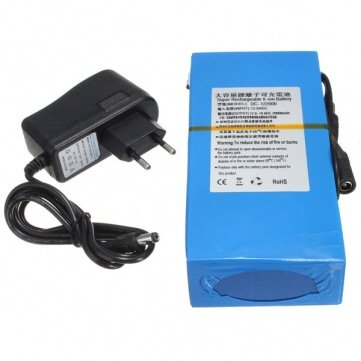 DC 12V 20000mAh Super Rechargeable Portable Lithium-ion Battery Pack