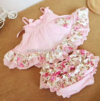 51deb2a4b Valentine's day baby boutique clothing set lovely pink dress with girls  ruffle bloomer summer wear baby