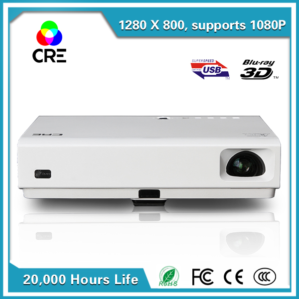 low cost 3800 lumens hd 1080p android 3D commercial business outdoor building advertising mobile projector/proyector CRE X2500