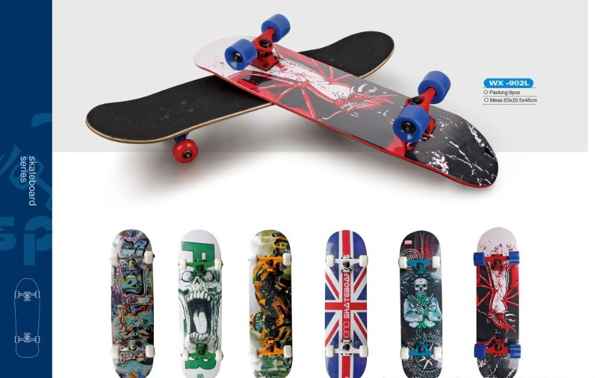 dancing longboard 7 ply100%Canadian Maple Material and Skateboard Parts Type 27 inch nickel boards skateboard