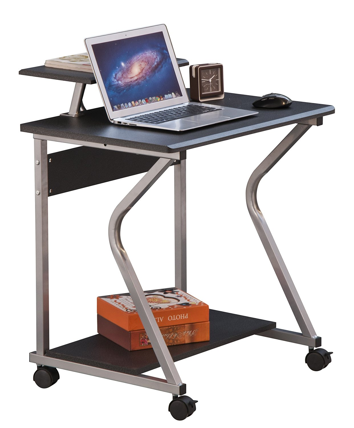 【Lowest Price FIRE SALE】Merax Stylish Design Mobile Home and Office Computer Writing Desk Table ,Student Desk,texture Black