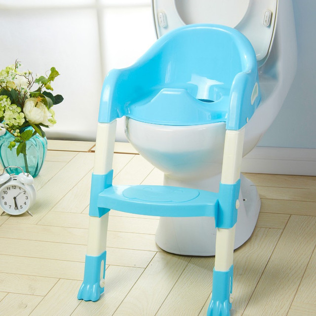 Baby Toilet Seat With Ladder / Kids Potty Training Toilet Seat BLUE