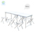 6ft Light weight aluminium outdoor folding table