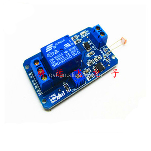 5V photosensitive resistance sensor relay module light control switch light detection switch