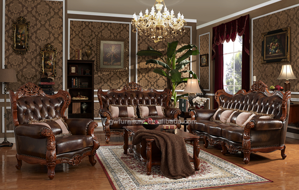 Superb Hand Carved Wooden Antique Sofa Set, Luxury Living Room Furniture Part 16
