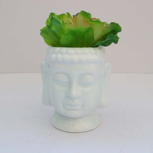Buddha Head Ceramic Flower Pots Garden Planter Molds Bonsai pots planters