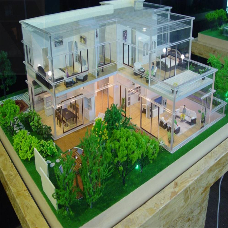 Real estate model miniature architecture 3d rendering for 3d decoration models