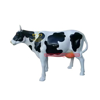 Hot Selling Garden Ornament Fiberglass Cow Statue
