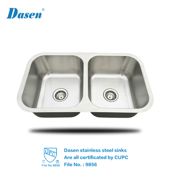 UNDERMOUNT cUPC DOUBLE BOWL 3118 STAINLESS STEEL KITCHEN SINK