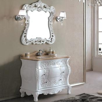 Vintage Antique Blanc Étroit Artisanal Victorien Style Salle De Bain Vanité  Avec Miroir Wts335 - Buy Vanité De Salle De Bain Victorienne,Vanité De ...