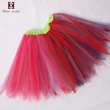 Wholesale Birthday dance Girls Chiffon Pettiskirts Baby fiber optic Tutu Skirt Tulle children mini skirts