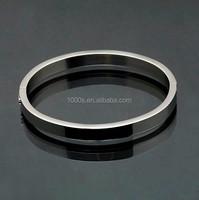 Custom design hollow letter name mark logo plated stainless steel bangle