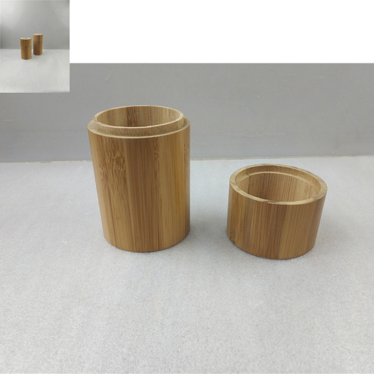 Round bamboo wood tea packing boxes