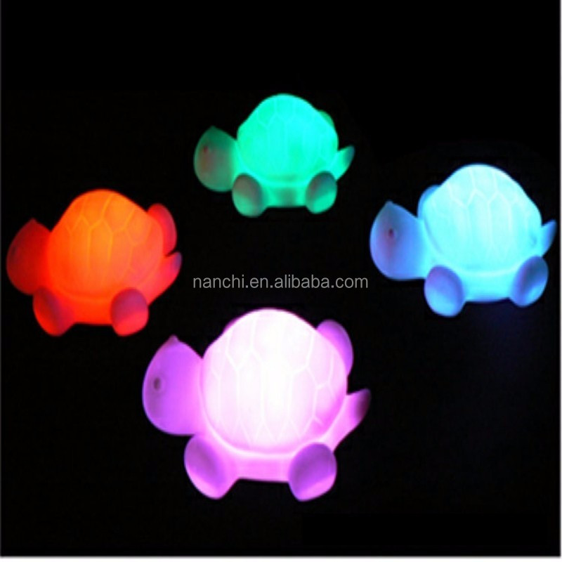1Pc Turtle Flash Colorful LED Small Night Light Luminous Chidren Toys Strange New Electronic Products Holiday Decorations