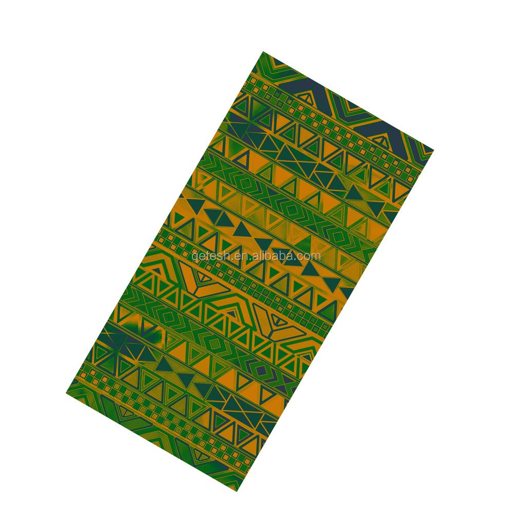 Custom Nigeria Aso Oke Headbands For Men Elastic Sport Thawaiian Headwear  Rainbow Tube Bandana f256ef2f1839