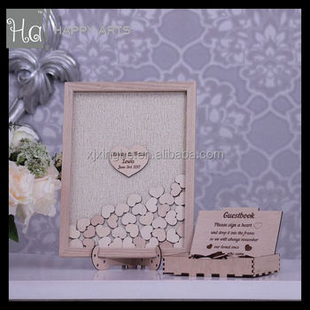 Wood Wedding Guestbook Frame Heart - Buy Wood Wedding Guestbook ...