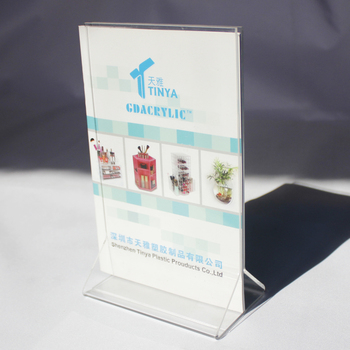 Factory Wholesale A4 Acrylic Sign Holder Acrylic Menu Holder Plastic Table Stand Menu Holder Table Menu Card Display Stand