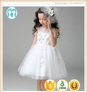 dae68cf3bc45 New Girls dresses white Halter princess Flower girls wedding dress ...
