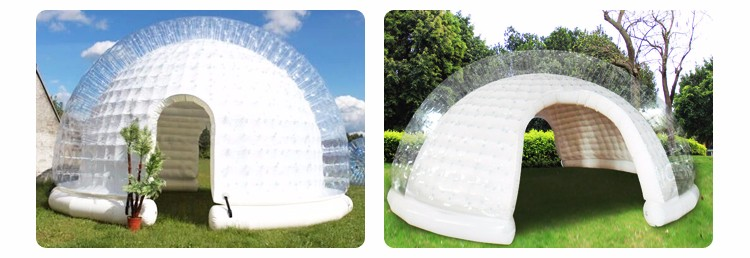 Outdoor c&ing White igloo inflatable clear bubble tent inflatable c&ing tent for saleclear & Outdoor Camping White Igloo Inflatable Clear Bubble Tent ...