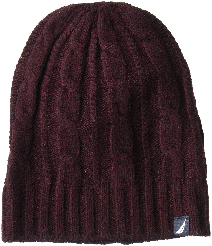Get Quotations · Nautica Men s Cable Knit Hat 9fd9f57f633