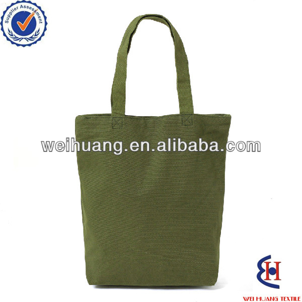 custom pure color cotton shoping bags