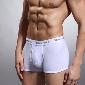 Good Quality Boxer Shorts Custom Logo Brands Underwear Oem Serive Breathable Solid Boxer Briefs For Men