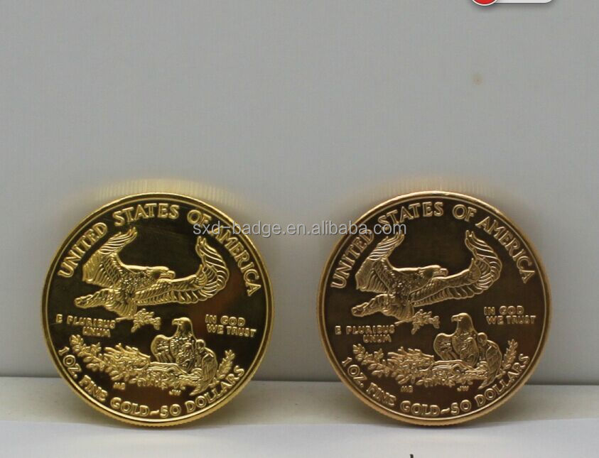1 Oz 22k American Gold Eagle Coin/replica Tungsten Gold Plated Coin From China - Buy Metal ...