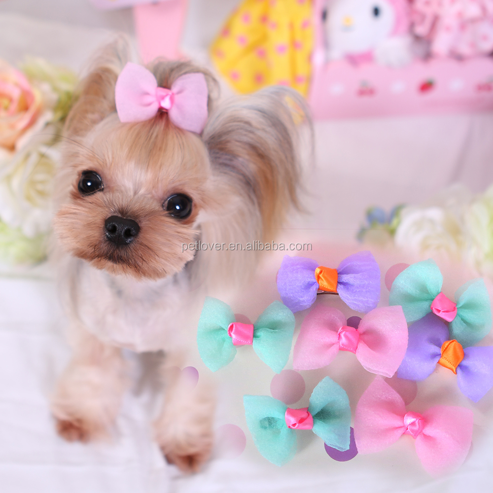 Organza cute bow dogs grooming accessories