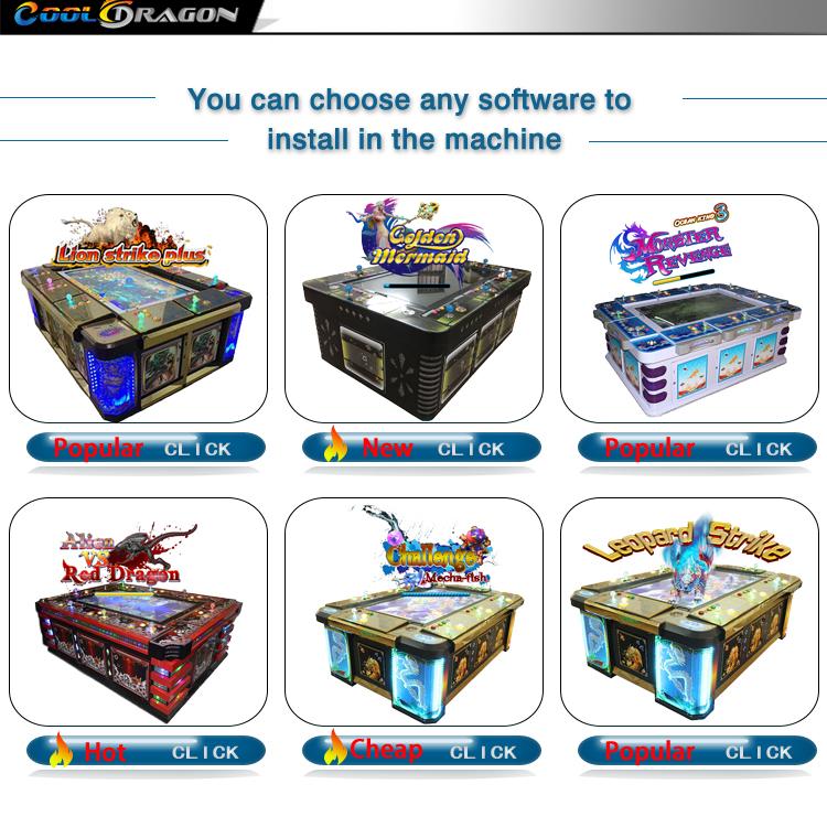 ICT bill acceptor fish game tafel machine fish hunter arcade game met hoge kwaliteit kast