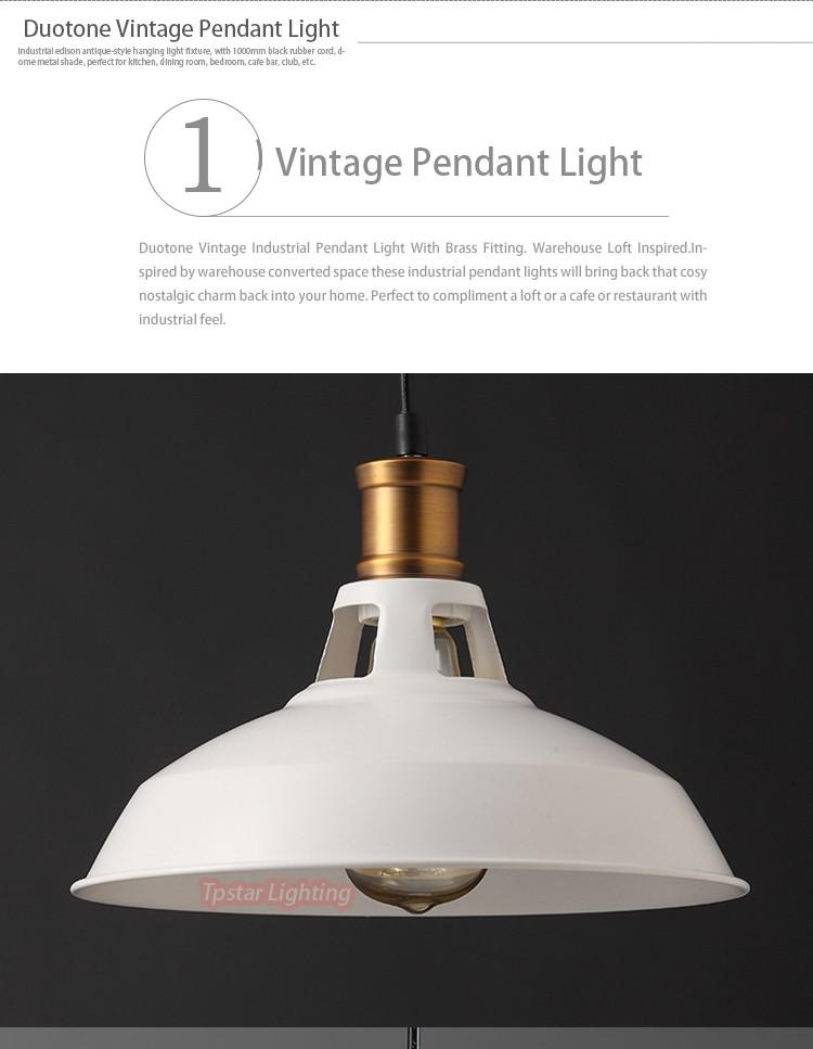 Duotone Vintage Industrial Pendant Light Buy Duotone Vintage