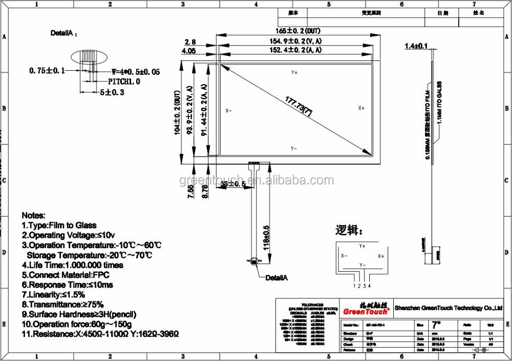 10,4 zoll 4 draht Resistiven touchscreen panel tisch für autoradio ...