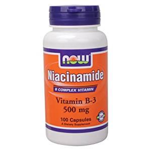 NOW Foods Niacinamide (B-3) 500mg 100 Caps, B Complex Vitramin, Fresh (1)