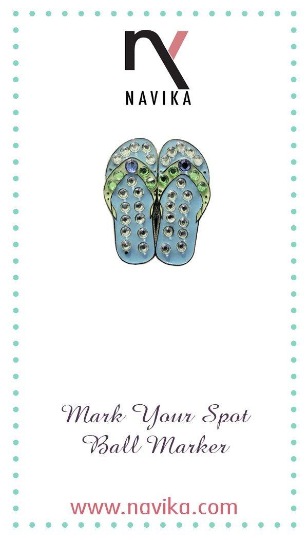 81c1fa524 Get Quotations · Blue Flip Flops Swarovski Crystal Ball Marker (No Clip)