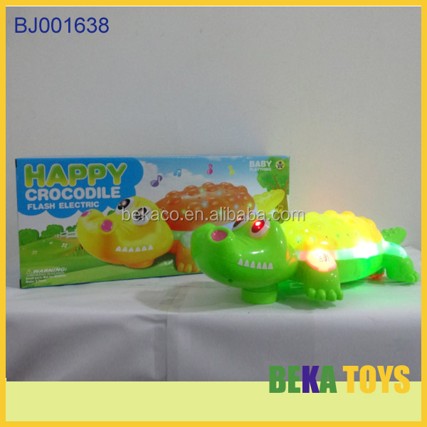 New arrival baby toys flashing projector toy animal electric crocodile toy