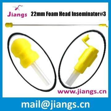 Jiangs 24mm Foam Head Semen Catheter with handle for pig and sow