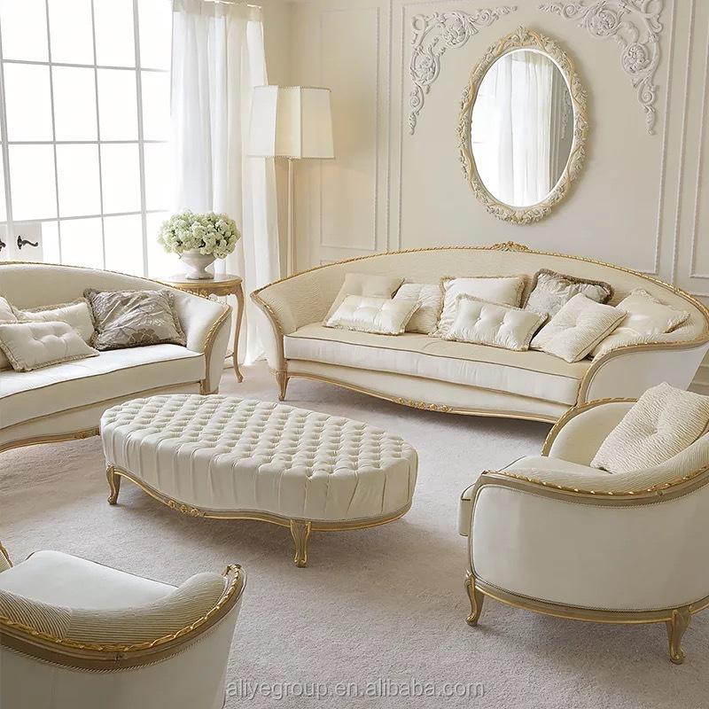 Mewah Ruang Tamu Sofa Set Dan Emas Putih Ruang Tamu Kain Sofa Set Buy Formal Perabot Ruang Keluarga Sofa Set Royal Furniture Sofa Set Luxury Living Room Kamar Kain Sofa Set Klasik
