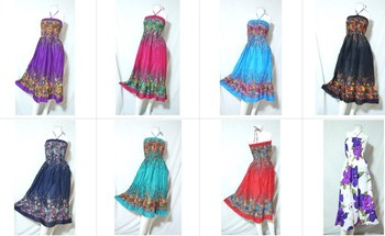 Hippie Boho Hawaii Beach Resort Wear Casual Dress Fl Print Maxi Ruffle