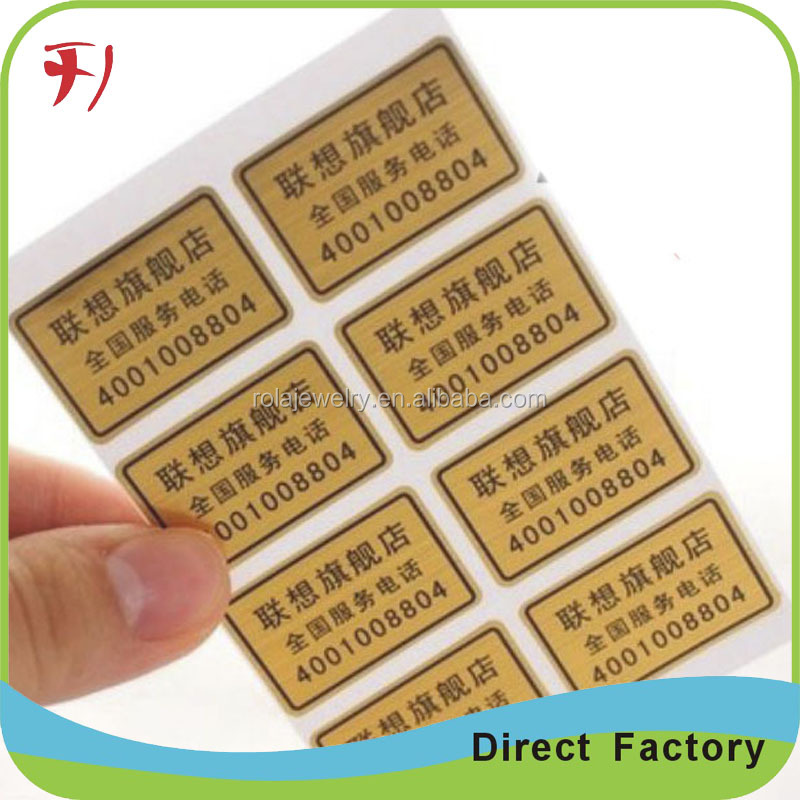 Aluminium metallic foil mini sticker cutting machine, warranty seal ,advertising stickers