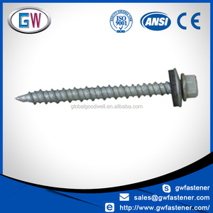 Hex washer head colored metal roofing screw