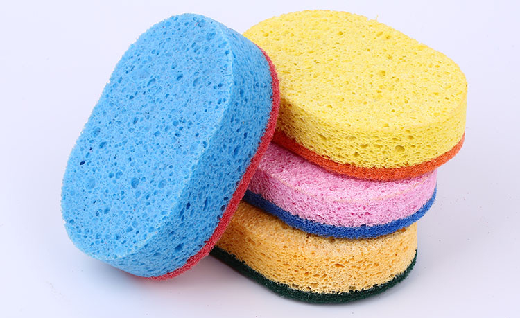 Wholesale Eco-Friendly Cheap Price Kitchen Cellulose Sponge Scouring Pad