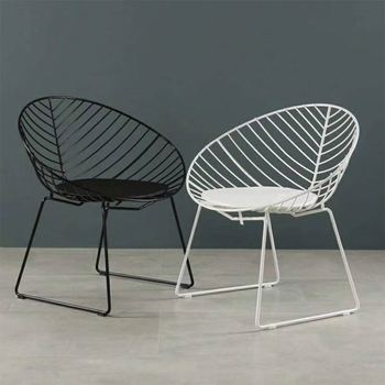 Contemporary Modern Design Black Metal Wire Garden Chairs Dining Chair