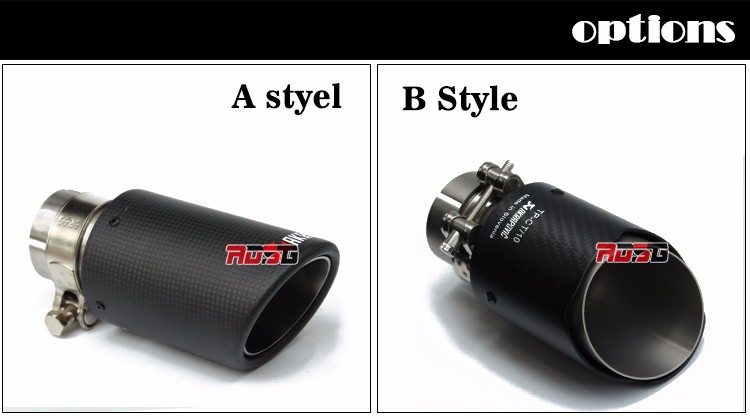 63 mét/76 mét carbon fiber exhaust mẹo end pipe cho VW BM W