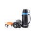 Optional Color Plastic Glass Vacuum Battle Thermos With 2 Cups
