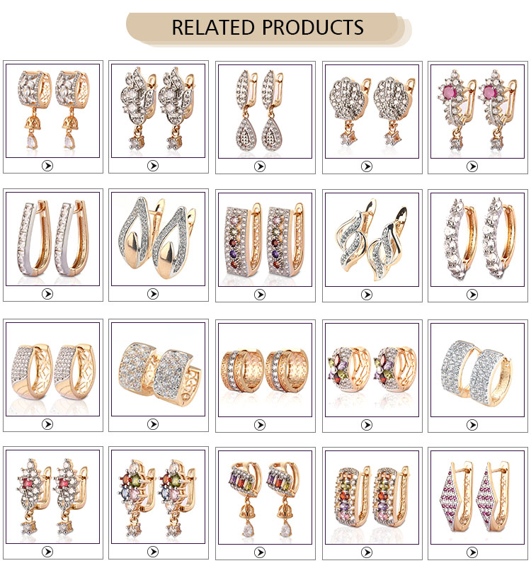 Wholesale Fashion Design Saudi Gold Jewelry Hanging Earrings Of Flower Shape